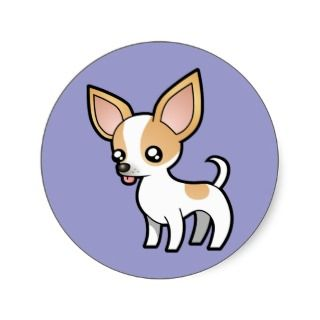 Cartoon Chihuahua (fawn parti smooth coat) stickers by SugarVsSpice