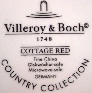 Villeroy Boch China Cottage Red Pattern Dinner Plate