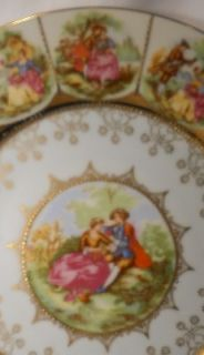 Arnart China Courting Couple or Love Story Set of 5 Service Plates