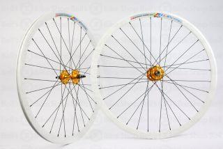 Weinmann Deep V DP18 Wheels White Gold Hubs Fixed New