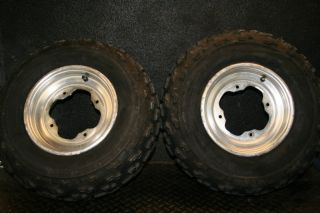 Yamaha Raptor 660 YFZ450 Front Wheels Tires Rim