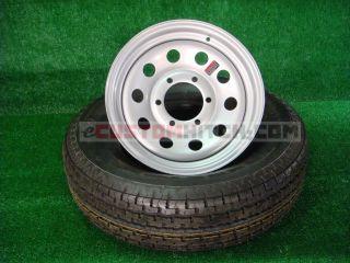 Trailer Tire Rim St 225 75R15 D 6 Lug Silver Modular