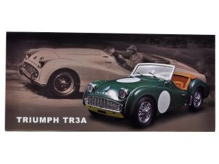 Brand new 118 scale diecast model car of Triumph TR3A Racing Green