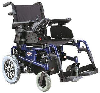 CTM HS 6200 Folding Electric Power Chair Blue