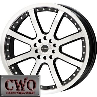 15 Black LM Stinger Wheels Rims 5x100 5x114 3 5 Lug Eclipse Altima