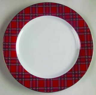 Pacific Rim Red Plaid Chop Plate Round Platter S4392642G2