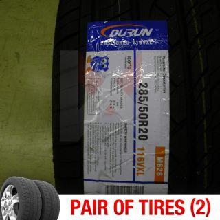 Set of 2 New 285 50R20 Durun Malta Two Tires 1 Pair 285 50 20 2855020