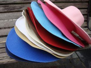 New Women Wide Large Brim Floppy Fold Summer Beach Sun Straw Beach