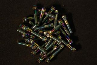 136 Multi Colour Split Rim Bolts M7 x 32 BBs RS Wheels