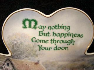 Fantastic Irish Lucky Shamrock Happiness Plate Ed