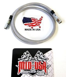 42 Long Universal Clear Coat 3 for Harley Custom Stainless Brake Hose