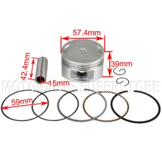 GY6 150cc ATV Go Kart Scooter Piston Rings Spring Pin Moped taotao