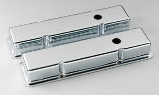 Cal Custom Chrome Valve Covers 198216 Chevy SBC 283 305 350 400