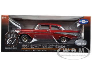 1957 Chevrolet Bel Air Burgundy 1 18 Diecast Model Car by Highway 61