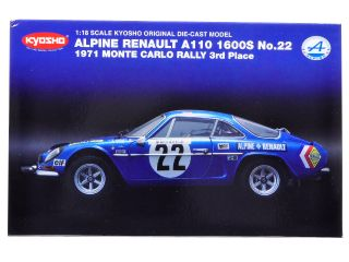 Brand new 118 scale diecast model car of Renault Alpine A110 1600S