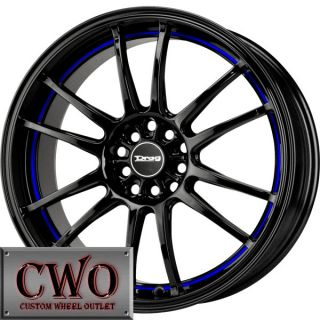 17 Black Drag Dr 38 Wheels Rims 4x100 4x114 3 4 Lug Civic Mini XB