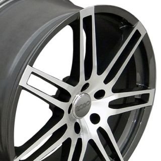 20 RS4 Wheels Gunmetal Set of 4 Rims Fit Audi Q7 Cayenne VW Touareg