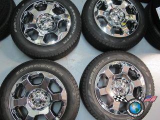Factory Chrome Clad 20 Wheels Tires Expedition 3786 OE Rims AL3J1007DA