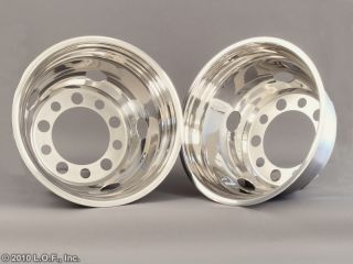 Universal 22 5 x 8 25 Stainless Dually Wheel Simulators Liners 10 Lug