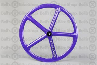 Aerospoke Track Front Wheel Purple Non Machined Fixed