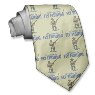 Fly Fishing in Waders Custom Tie