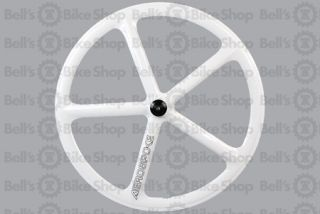 Aerospoke Track Rear Wheel White Non Machined Fixed