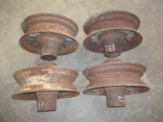 Wooden Wood Spoke Steel Grain Wagon Rims Vintage Antique Wheels