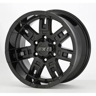 Mickey Thompson Sidebiter Gloss Black Wheel 15x8 5x4 5 Set of 5