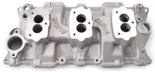 Edelbrock Three Deuce Intake Manifold Chevy SBC 283 327 350 Fits Stock