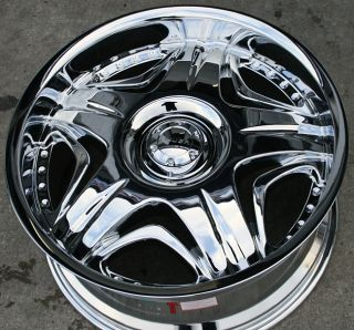 Akuza Sting 503 20 Chrome Rims Wheels Lincoln Navigator