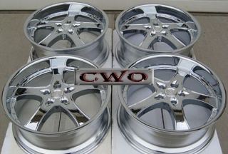 20 Chrome adr Spartan Wheels Rims 5x114 3 5 Lug Mustang 350Z G35 Crown