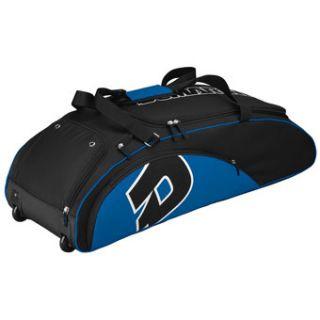 DeMarini Vendetta Baseball Softball Equipment Wheel Bag Black Royal