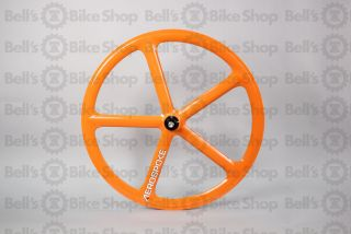 Aerospoke Track Rear Wheel Orange Non Machined Fixed Gear