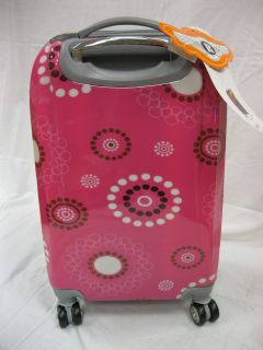 Rockland 20 inch Polycarbonate Swivel Wheeled Carry on Luggage Pink