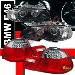 00 02 BMW E46 328ci 2DR COUPE HALO PROJECTOR HEADLIGHTS CORNER & LED