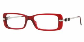 New Authentic Versace ve 3122 388 Bordeaux Striped Red Silver