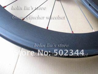 Carbon Wheelset 700c 60mm Clincher Carbon Wheels
