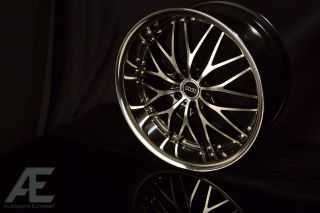 19 RW1 Black Chrome Lip Audi w Tires