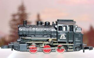 Scale Z Gauge Marklin Mini Club 88051 BR89 0 6 0 Steamer 5 Pole Gold
