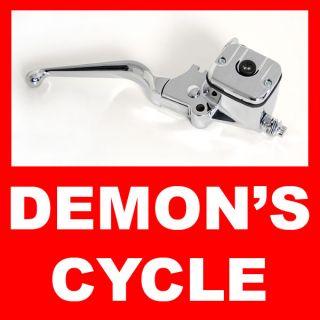 New Master Cyclinder Chrome Custom Handlebar Brake Levers Fit Harley