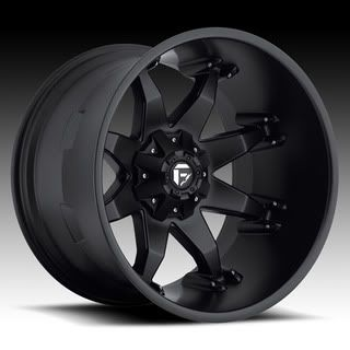 Fuel Off Road Black Wheels 22 x 14 Octane F250 F350 Superduty 4x4 Deep