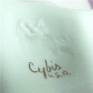 Cybis Figurine Porcelain Valentine Girl Clown Bust Heart 5015 Carousel