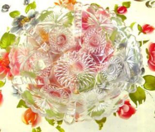PA EAPG Pressed Glass Bowl Buttressed Sunburst Pattern No 321