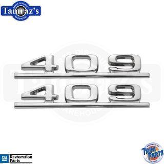62 63 Chevy Chevrolet Impala 409 Fender Emblems