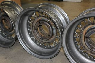 16 x 7 5 on 5 5 Bolt Pattern 52 Spokes Brand New Wire Rims