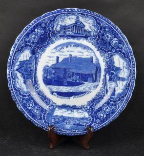 Flow Blue Plate Scenes of Newburgh NY Souvenir Plate England