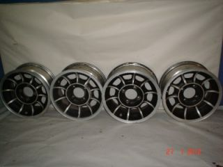Roadster 510 240Z 280Z 14 x 6 4 on 4.5 Turbine Style Wheels Set of 4