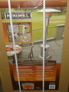 New Nexgrill Stainless Steel Patio Heater Commericial Grade 44 000 BTU