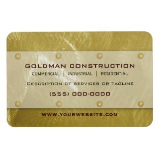 Brushed Faux Gold Metal Look Business Card