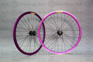 Velocity Deep V Track Wheels Purple Anodized Fixed Gear 700c